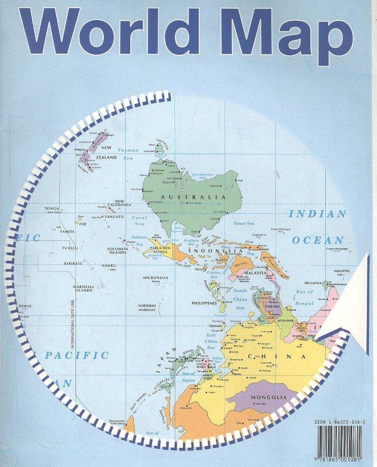 逆地図(Upsidedown ... : 世界地図 子供 : 世界地図